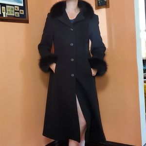 Vintage Wool & Faux Fur Marvin Richards Coat